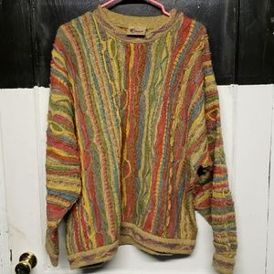 Vintage Coogi Classic Mens XL Multicolor Sweater